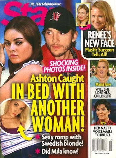 Ashton Kutcher oskar�ony o zdrad� Mili Kunis!