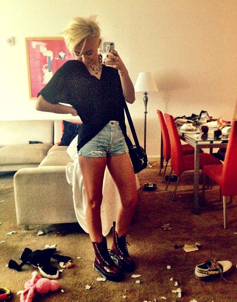 Miley Cyrus kocha się... w sobie (FOTO)