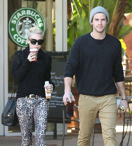 Miley Cyrus i Liam Hamsworth - przerwa na kawę (FOTO)