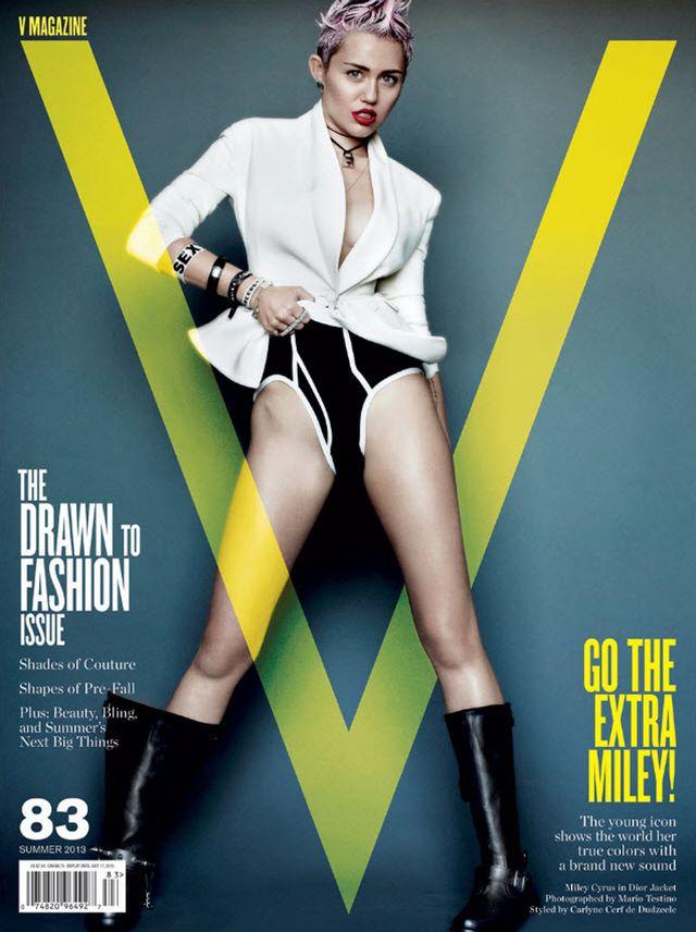 Ostra Miley Cyrus na trzech ok�adkach V Magazine (FOTO)