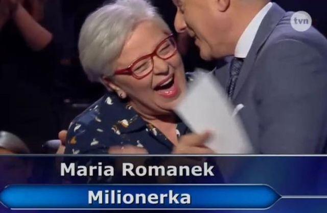 Emerytowana polonistka wygrała MILION w Milionerach!