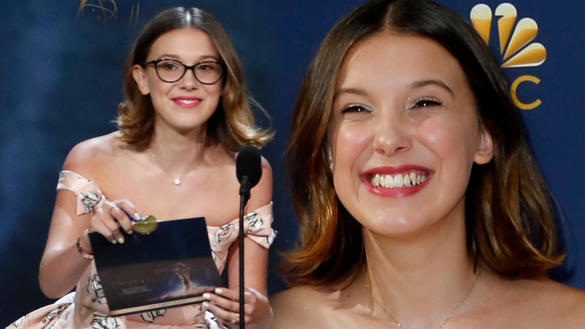 14-letnia Millie Bobby Brown pokazała KLASĘ na Emmy (ZDJĘCIA)