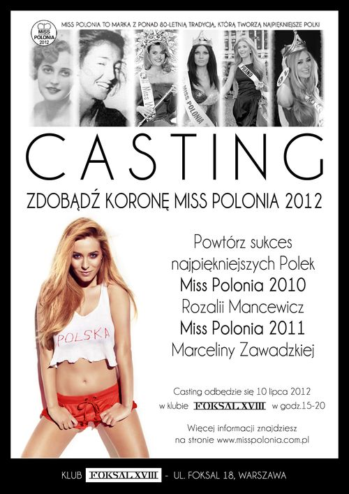 Casting do konkursu Miss Polonia 2012