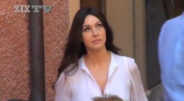 Monica Bellucci na planie reklamy Cisowianki Perlage [VIDEO]