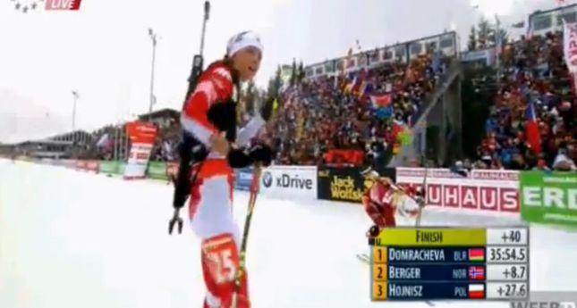 Monika Hojnisz wywalczyła brązowy medal w biathlonie