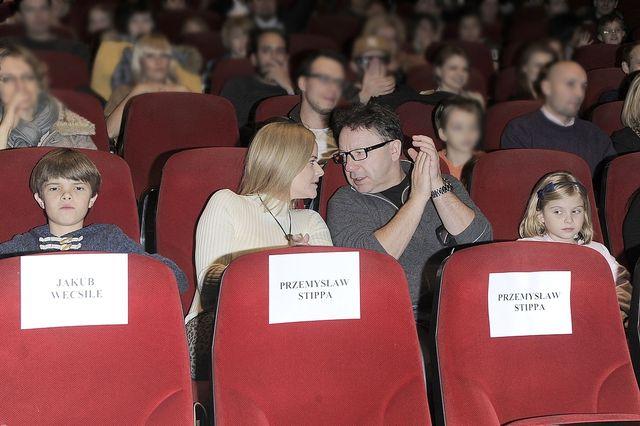 Richardson i Zamachowski zabrali dzieci na premierę filmu