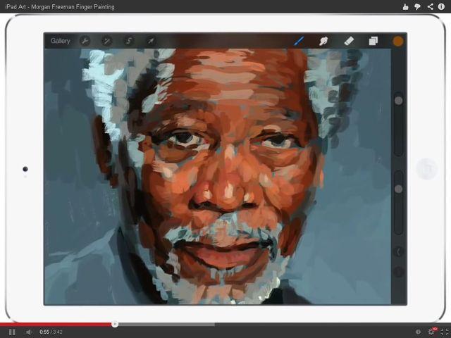 Niewiarygodne! Morgan Freeman namalowany na iPadzie (FOTO)