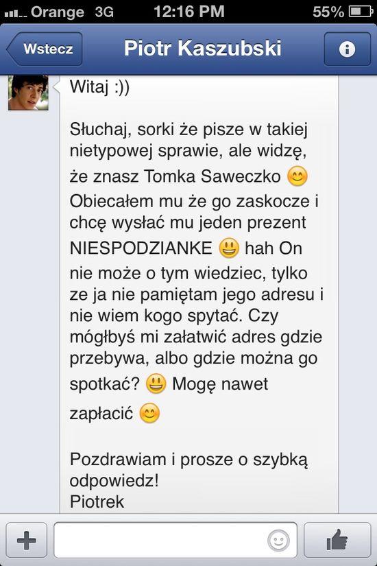 Piotr Kaszubski grozi i straszy Tomasza Saweczko (FOTO)