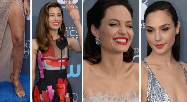 Rozbawiona Jolie i fikającą nóżka Heidi Klum – gwiazdy na Critics' Choice Awards