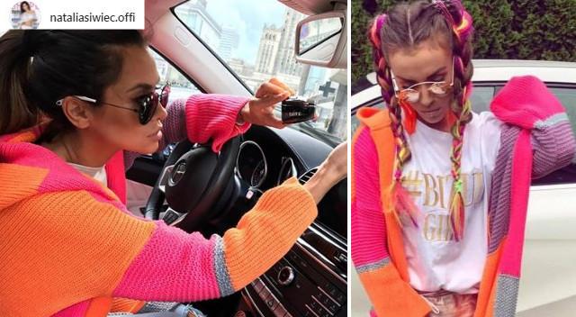 Natalia Siwiec w neonowym swetrze – nie jest bardzo drogi (Instagram)