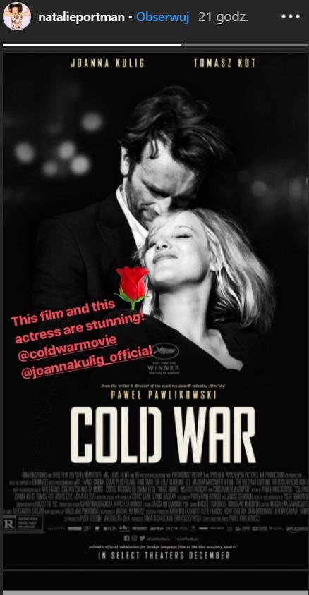 Natalie Portman wyraziła opinię o Joannie Kulig. Co twierdzi o aktorce?