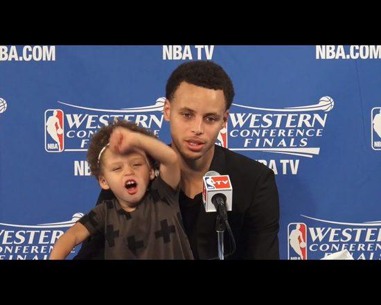 Córka Stephena Curry, gwiazdy NBA, skradła tacie wywiad