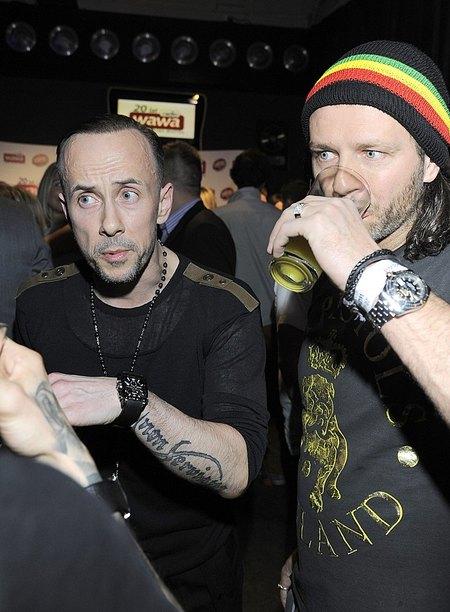 Dwaj byli faceci Dody na jednej imprezie (FOTO)