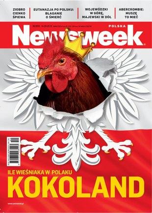 Kogut zamiast orła na okładce Newsweeka (FOTO)