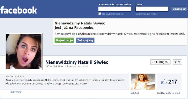 Natalia Siwiec ma swój antyfanklub