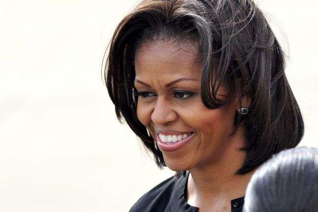 Mała demonstracja lotników na spotkaniu z Michelle Obamą