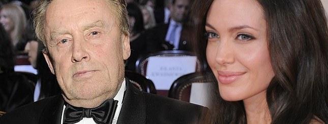 Daniel Olbrychski z Angeliną Jolie