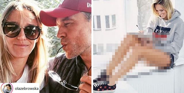 Żona Żebrowskiego nie goliła nóg przez ROK. Wiemy, co na to aktor