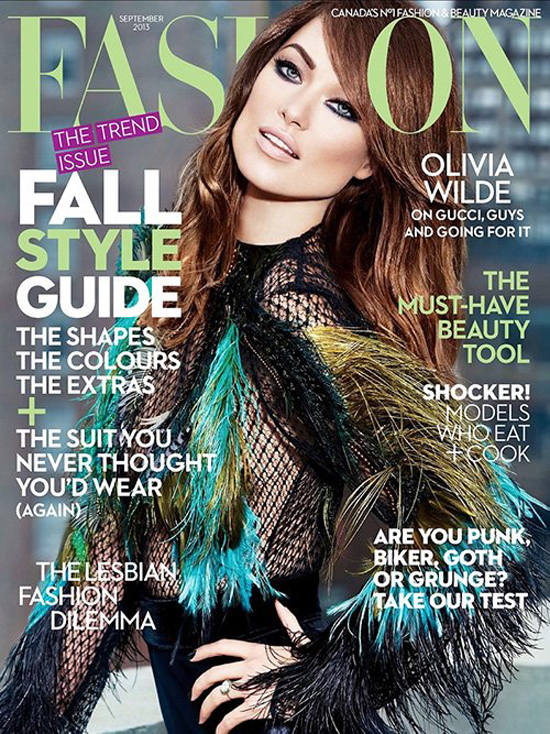 Zbyt perfekcyjna Olivia Wilde na okładce Fashion