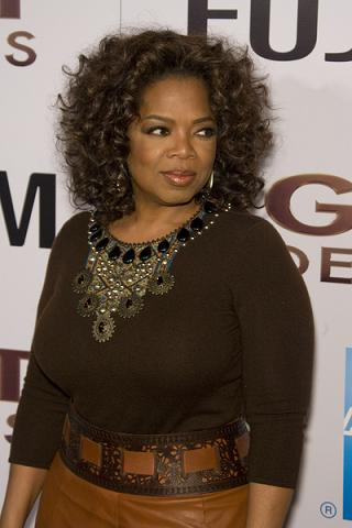 Złota Oprah w sarkofagu