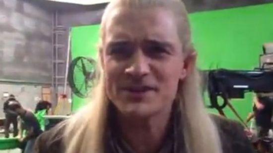 Hit YouTube! Orlando Bloom żegna się z Hobbitem (VIDEO)