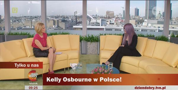 Kelly Osbourne wyrwało się f*ck off w śniadaniowej telewizji