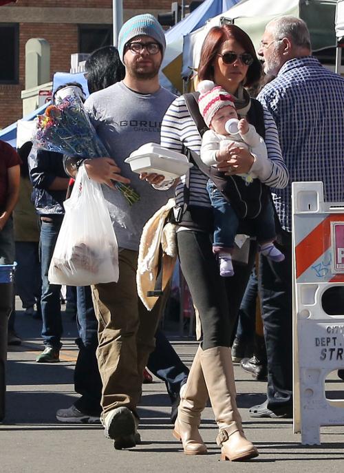 Ben Affleck oraz Jack Osbourne z rodzinami na bazarze (FOTO)