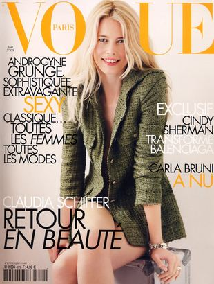 Claudia Shiffer w Vogue