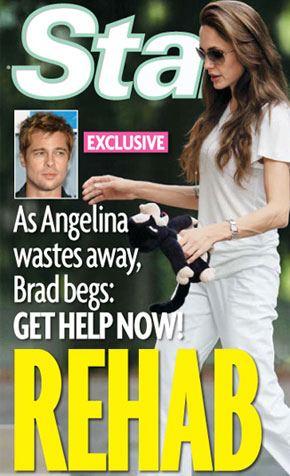 Brad chce wysłać Angelinę na terapię
