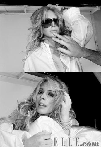 Lindsay Lohan dla Elle