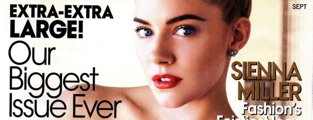 Sienna Miller we wrześniowym Vogue