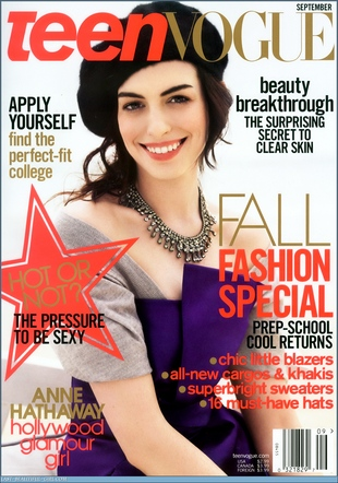 Anne Hathaway dla Teen Vogue