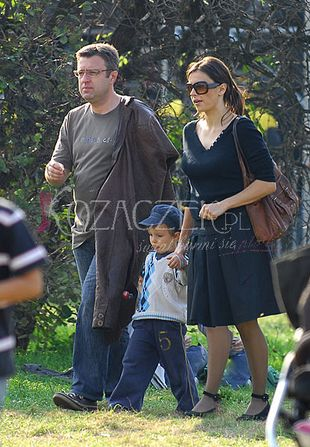 Renata Dancewicz z synkiem i partnerem