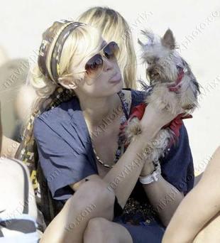 Paris Hilton na plaży