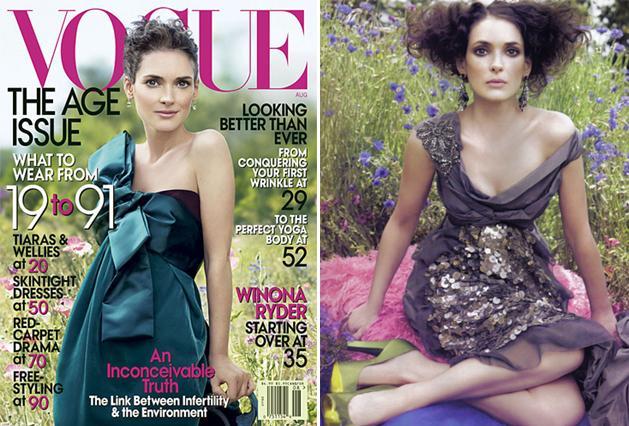 Winona Ryder dla Vogue