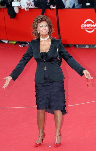 Sophia Loren za festiwalu w Rzymie (FOTO)