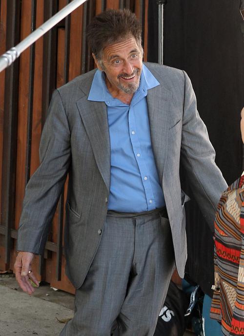 Al Pacino widziany z tajemniczą blondynką