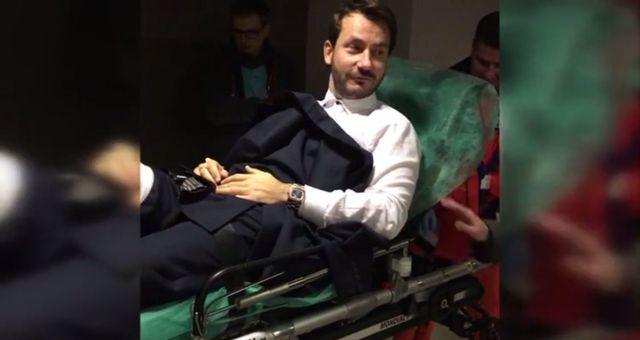 Prowadzący Państwo w Państwie złamał nogę na wizji (VIDEO)