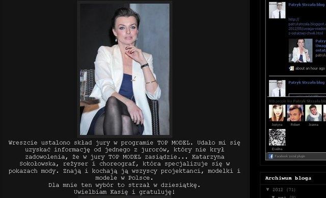 Katarzyna Sokołowska nową jurorką Top Model