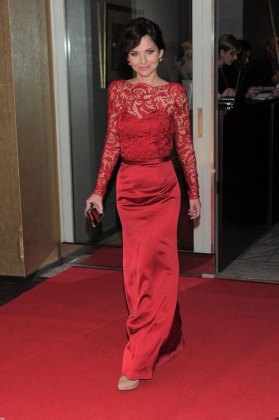 Gala Telekamery 2014 (FOTO)czerwona suknia