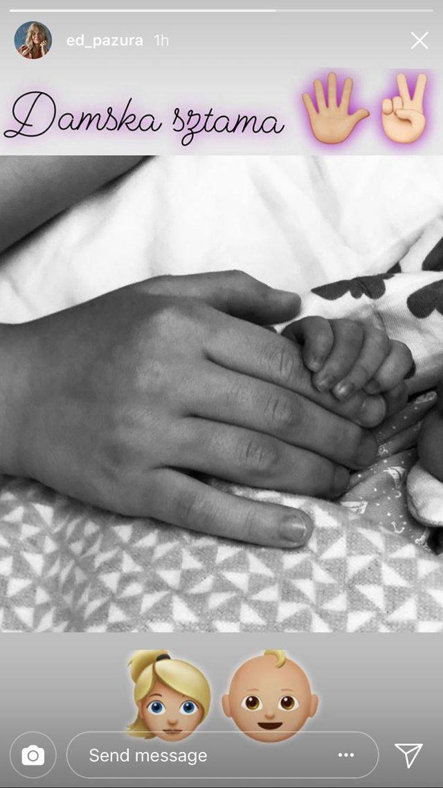 Edyta Pazura dodała PIERWSZE zdjęcie z córką po porodzie (Instagram)