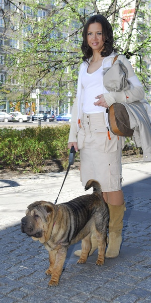 Kinga Rusin i jej pies