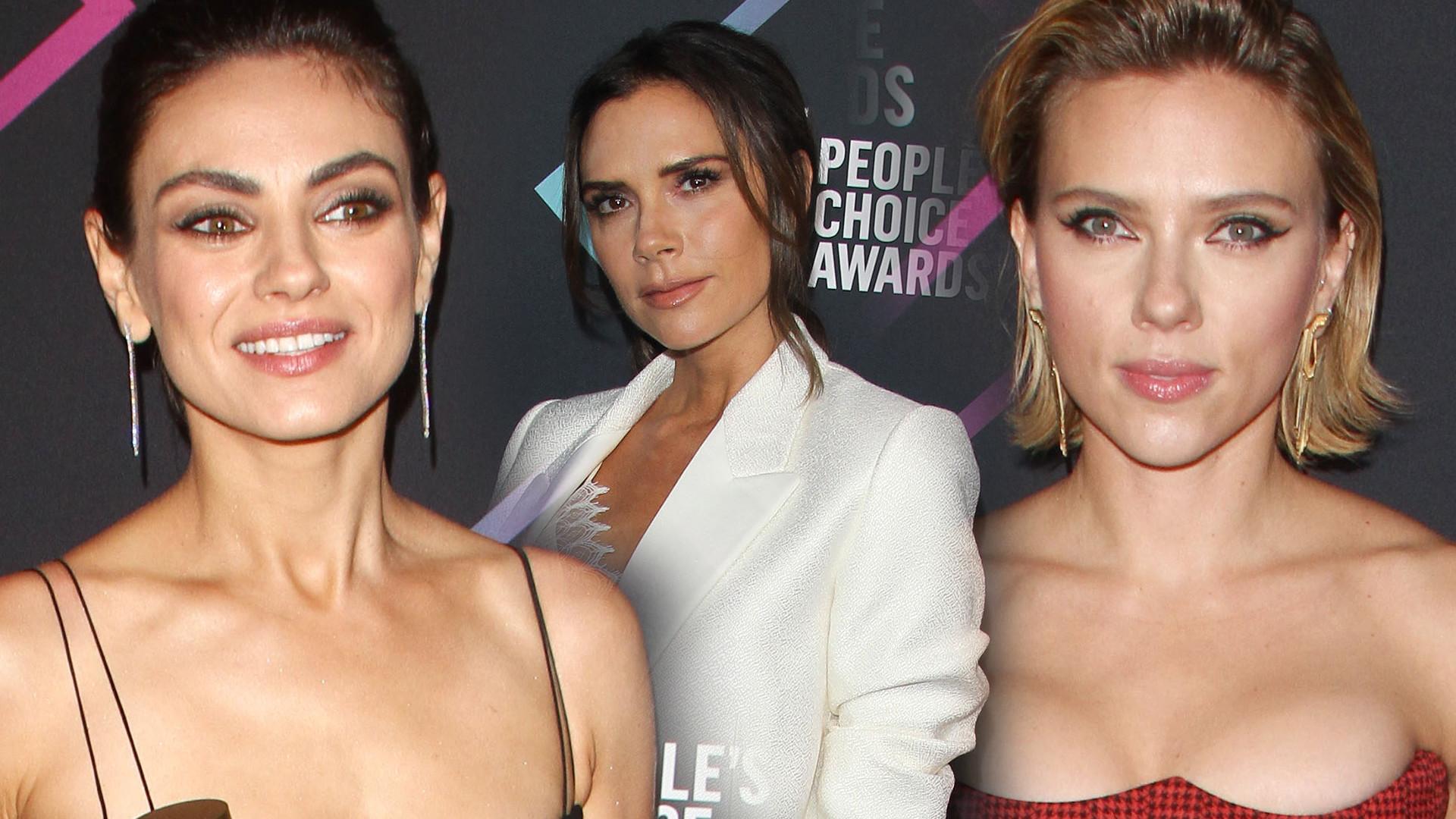 Mila Kunis, Scarlett Johansson, Victoria Beckham na People's Choice Awards