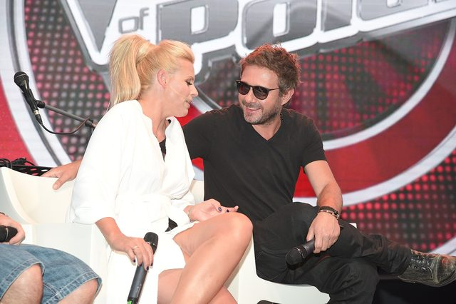 G�rniak, Sadowska, M�ynkova na konferencji The Voice (FOTO)