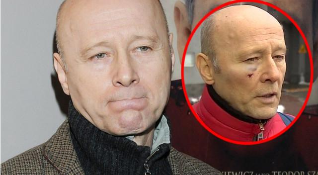 Krzysztof Pieczyński SKOPANY i zwyzywany, bo miał taką kurtkę?