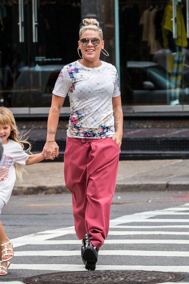 Pink z córką Willow i mężem w doskonałych humorach (ZDJĘCIA)