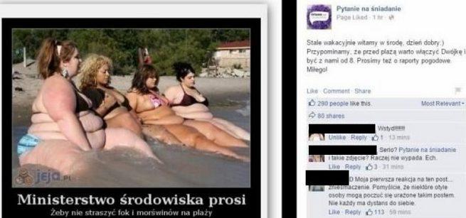 Na FB Pytania na �niadanie opublikowano niestosowny mem