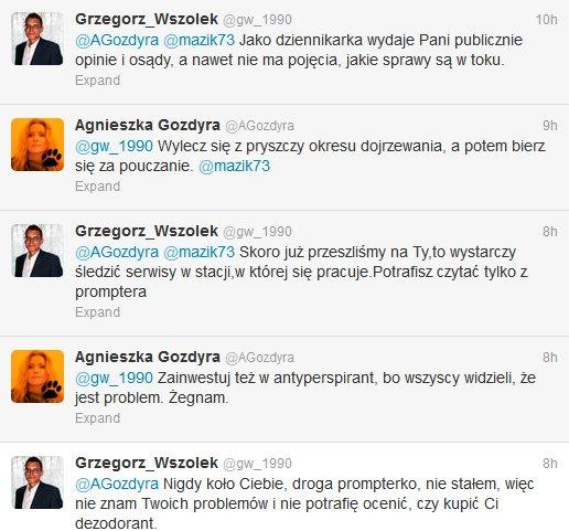 Pyskówka dziennikarki Polsatu na Twitterze