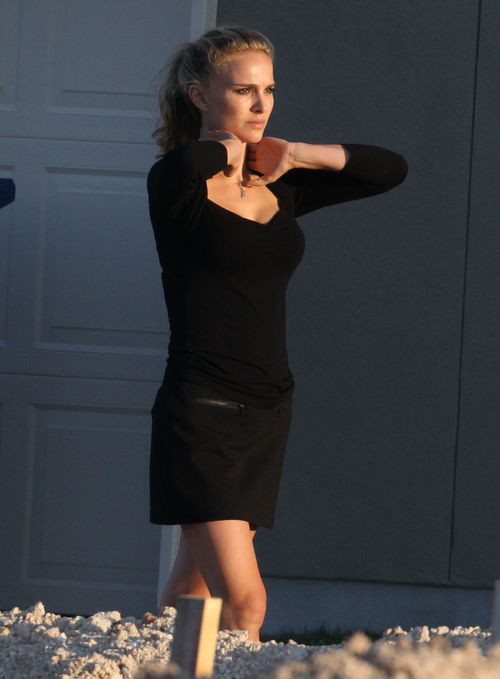 Natali Portman l�ni na planie filmowym