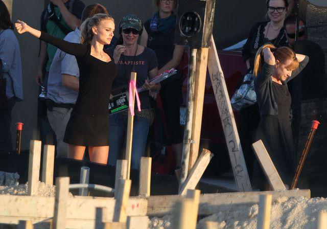 Natali Portman lśni na planie filmowym